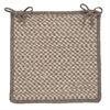 Natural Wool Houndstooth - Latte Chair Pad (single)