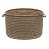 "Natural Wool Houndsdtooth- Caramel 24""x14"" Utility Basket"
