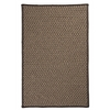 Natural Wool Houndstooth - Caramel 6' square
