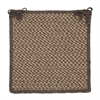 Natural Wool Houndstooth - Caramel Chair Pad (single)
