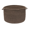"Natural Wool Houndstooth - Cocoa 18""x12"" Utility Basket"