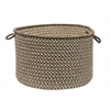 "Natural Wool Houndstooth - Espresso 18""x12"" Utility Basket"