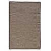 Natural Wool Houndstooth - Espresso 6' square