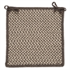 Natural Wool Houndstooth - Espresso Chair Pad (set 4)