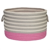 Colonial Mills Chloe Stripe Pink 18x18x12 RND BSKT