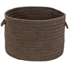 Colonial Mills Sunbrella Solid Mink 16x16x11 Basket