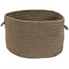 Sunbrella Solid Mushroom 16x16x11 Basket