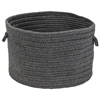 Sunbrella Solid Granite 13x13x9 Basket