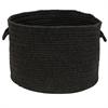 Colonial Mills Sunbrella Solid Ebony 13x13x9 Basket