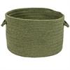 Colonial Mills Sunbrella Solid Basil 13x13x9 Basket