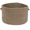 Sunbrella Solid Alpaca 16x16x11 Basket