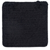 Simple Chenille - Black Chair Pad (single)