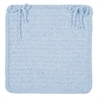 Simple Chenille - Sky Blue Chair Pad (single)