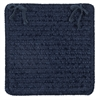 Colonial Mills Simple Chenille - Navy Chair Pad (set 4)