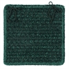 Simple Chenille - Dark Green Chair Pad (set 4)