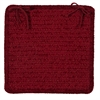 Simple Chenille - Sangria Chair Pad (single)