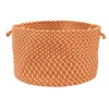 "Colonial Mills Montego - Tangerine 18""x12"" Utility Basket"