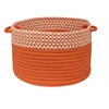 "Houndstooth Dipped Basket - Orange 24""x14"""