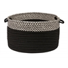 "Houndstooth Dipped Basket - Black 24""x14"""