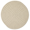 Colonial Mills Woodland Round - Light Gray 7' round