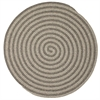 Colonial Mills Woodland Round - Dark Gray 10' round