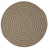 Colonial Mills Woodland Round - Dark Natural 8' round