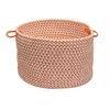 "Outdoor Houndstooth Tweed- Orange 14""x10"" Utility Basket"