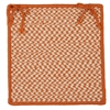 Outdoor Houndstooth Tweed - Orange Chair Pad (set 4)