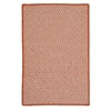 Colonial Mills Outdoor Houndstooth Tweed - Orange 2'x4'