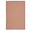 Colonial Mills Outdoor Houndstooth Tweed - Orange 2'x6'
