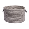 "Outdoor Houndstooth Tweed- Gray Utility Basket 14""x10"""