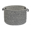 "Colonial Mills Outdoor Houndstooth Tweed- Black 14""x10"" Utility Basket"