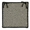 Outdoor Houndstooth Tweed - Black Chair Pad (single)