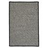 Colonial Mills Outdoor Houndstooth Tweed - Black 2'x10'