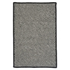 Outdoor Houndstooth Tweed - Black 5'x8'