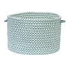 Outdoor Houndstooth Tweed - Sea Blue 4' square