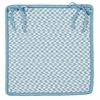 Outdoor Houndstooth Tweed - Sea Blue Chair Pad (set 4)