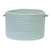 "Outdoor Houndstooth Tweed- Sea Blue 14""x10"" Utility Basket"