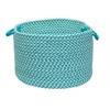 "Outdoor Houndstooth Tweed - Turquoise 18""x12"" Utility Basket"