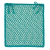 Colonial Mills Outdoor Houndstooth Tweed - Turquoise Chair Pad (set 4)
