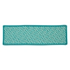 Outdoor Houndstooth Tweed - Turquoise Stair Tread (single)