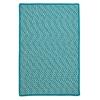 Outdoor Houndstooth Tweed - Turquoise 2'x6'