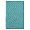 Outdoor Houndstooth Tweed - Turquoise 5'x8'