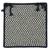 Outdoor Houndstooth Tweed - Navy Chair Pad (single)