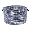 "Outdoor Houndstooth Tweed - Navy 18""x12"" Utility Basket"
