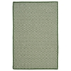 Outdoor Houndstooth Tweed - Leaf Green 6' square