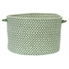 "Outdoor Houndstooth Tweed- Leaf Green 14""x10"" Utility Basket"