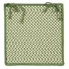 Outdoor Houndstooth Tweed - Leaf Green Chair Pad (set 4)