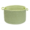 "Colonial Mills Outdoor Houndstooth Tweed - Lime 18""x12"" Utility Basket"