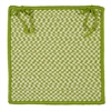 Outdoor Houndstooth Tweed - Lime Chair Pad (set 4)